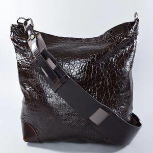 Marni Dark Brown Pebbled Leather Crossbody